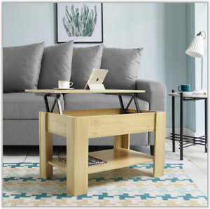 Lift Up Coffee Table Tea Living Room Storage Shelf Lounge Table Home Furniture