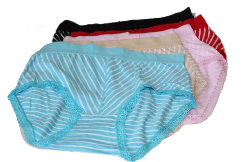 4 Set Damenslip Unterhose Slips Baumwolle Gestreifft STRIF-6012