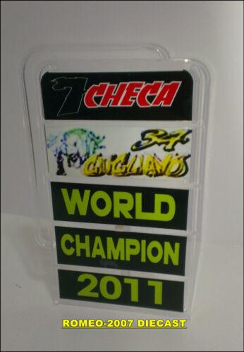 1:12 Pit board pitboards Carlos Checa World Champion SBK 2011 to minichamps NEW