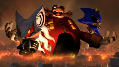 Sonic The Hedgehog Doctor Eggman Infinite Silk poster wallpaper 24 X 13 inches