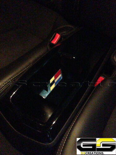Cadillac CTS /& CTS-V Coupe Rear Cup Holder Cover WITH Embedded V Emblem