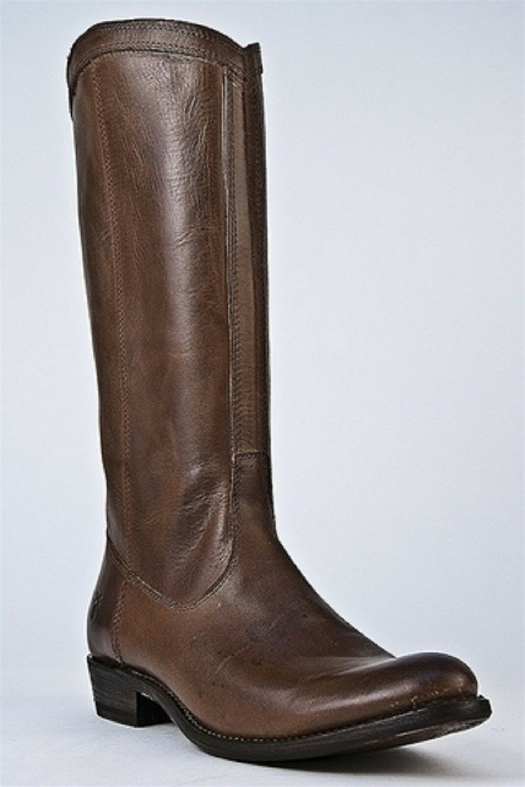 Frye RIDER PULL ON Leather Fashion Mid-Calf Boots Cognac Women Riding New