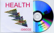 HEALTH Disco 2 2010 UK 12-track promo test CD Crystal Castles Gold Panda