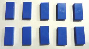Lego® 10 x Fliese 1x2 blau Neu 3069