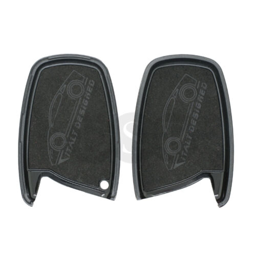 Genuine Leather Shell Holder for HYUNDAI ix45 Santa Fe Smart Key Case Fob 4B BK