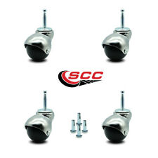 Scc Bright Chrome Hooded 2 Swivel Ball Casters With 516 Grip Neck Stem Set 4