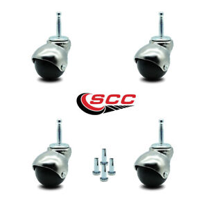 Service Caster Brand 2 Inch Swivel Ball Caster 75 lbs Hooded//Bright Chrome Finish with 7//16 Grip Ring Stem Capacity