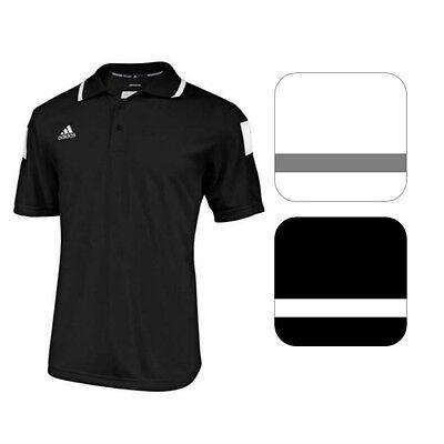 adidas Men's CLIMALITE Shockwave Sideline Polo Short Sleeve Coaching Sport Shirt