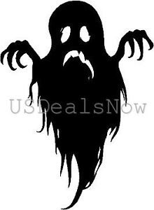 2) Spooky Ghost Silhouette Halloween Vinyl Decal Car Window ...
