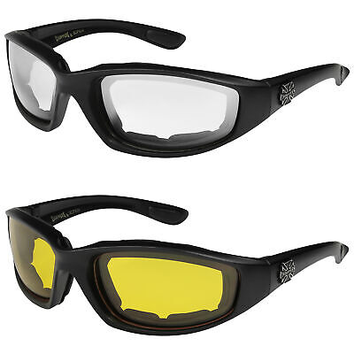 2er Pack Choppers 6608 Locs Sonnenbrille Klar Sonnenbrille Herren Damen weiß