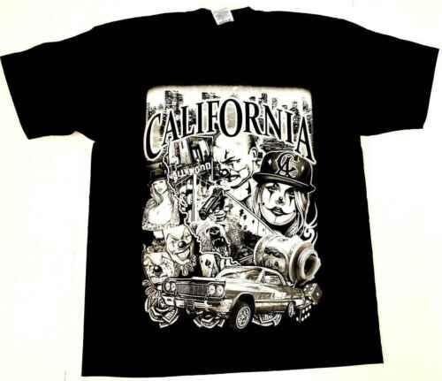 244CALI LOWRIDER T shirt California Republic Urban Mens T Shirt Clothing