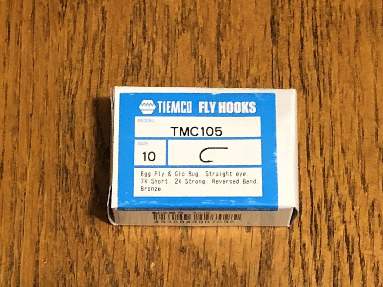 100 Tiemco Egg Fly Tying Hooks, TMC 105 Size 10
