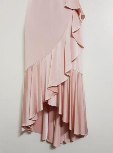 NEW Ex Debenhams 8-18 £75.00 Nude Pink Cold Shoulder Bardot Ruffle Dress Wedding