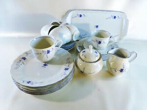 Kaffeegeschirr-Winterling-Kirchenlamitz-Bavaria-Bluete-mit-blauem-Rand
