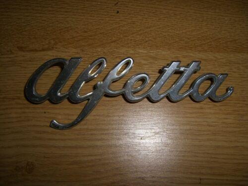 Emblème badge alfa romeo alfetta en métal 14,5 x 5 CM env