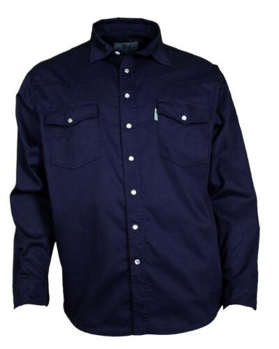Western Memoria Camicia di Jeans Cotone Bottone Automatico Blu Scuro S Fino A