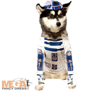 Details About R2 D2 Dog Fancy Dress Star Wars Sci Fi Movie Robot Animal Halloween Pets Costume