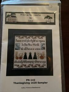 Primitive-Needleworks-Cross-Stitch-Thanksgiving-1620-Sampler