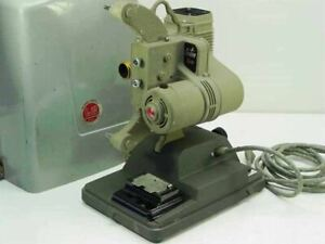 DeJur Amsco 8mm Film Projector with Bulb and Cary Case - 115 VAC - As Is 750-B