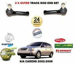 FOR-KIA-CARENS-1-6-1-8-2-0-2002-2006-NEW-2-X-OUTER-STEERING-TRACK-RACK-ROD-ENDS