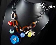 Luxus Statement Kette Lolilota Paris Halskette Collier Marienkäfer Biene Perlen