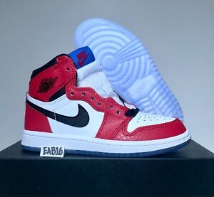 969f8ff8c25 Nike Air Jordan Retro 1 OG Spider Man Origin Story Red Black White ...