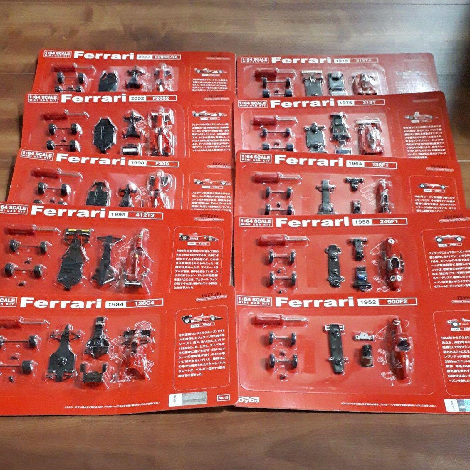 Ferrari 1 64 Kyosho x Dydo Promo F1 Vol.2 10 Cars lot Complete Unassembled F S