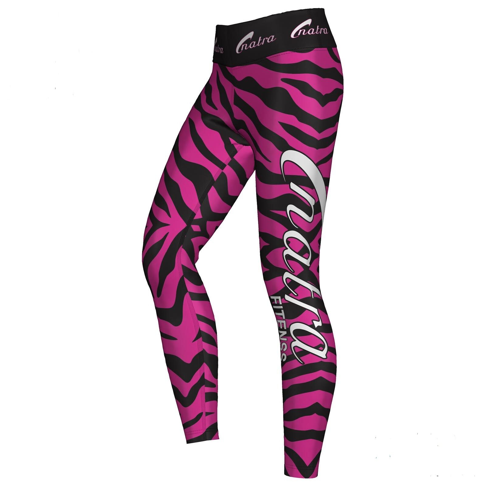 Natra Fitness Sublimation Leggings Sport Training Trousers Lycra Breathable Pink
