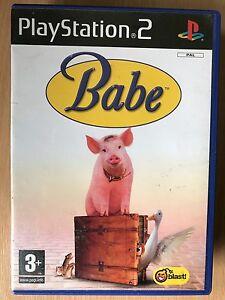 Bebe-pour-Sony-PLAYSTATION-2-PS2-Jeu-Base-sur-Film-avec-Porcinet-Cochon