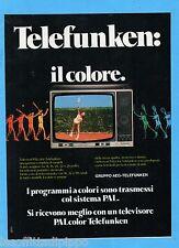 QUATTROR981-PUBBLICITA'/ADVERTISING-1981- TELEFUNKEN TV COLOR