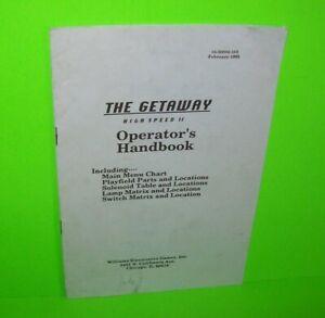The-Getaway-Pinball-Machine-Mini-Handbook-Williams-Original-1992-Game-Booklet