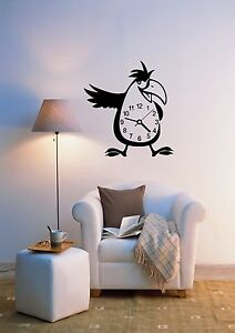 Wall-Stickers-Vinyl-Decal-Bird-Clocks-Decor-For-Living-Room-ig695