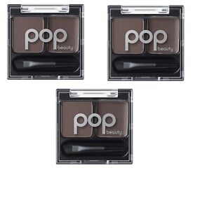 POP-Beauty-Brow-Duette-classy-brunette-brow-wax-powder-0-08-oz-lot-of-3