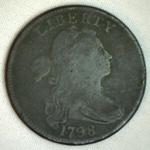 1798-Draped-Bust-Copper-Large-Cent-Penny-Type-Coin-Perhaps-S157-Variety-M18