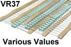 VR37 0.5W Umax=3500V VISHAY Metal Glaze Resistor Various Values: 110K 470K 10M..