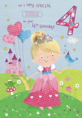 4 4th granddaugther nièce Petite Fille Soeur Fille Filleule Carte D/'Anniversaire
