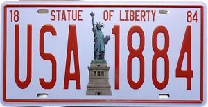 Plate-Metal-Vintage-Statue-of-Liberty-USA-New-York