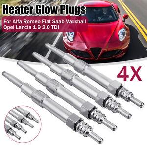 4x Diesel Heater Glow Plugs For Alfa Romeo Fiat Saab Suzuki Vauxhall 1.9 CDTI TD