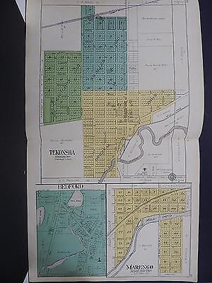 Calhoun County Map 1916 Tekonsha Marengo Straightforward Michigan Bedford J20#58 Beneficial To The Sperm