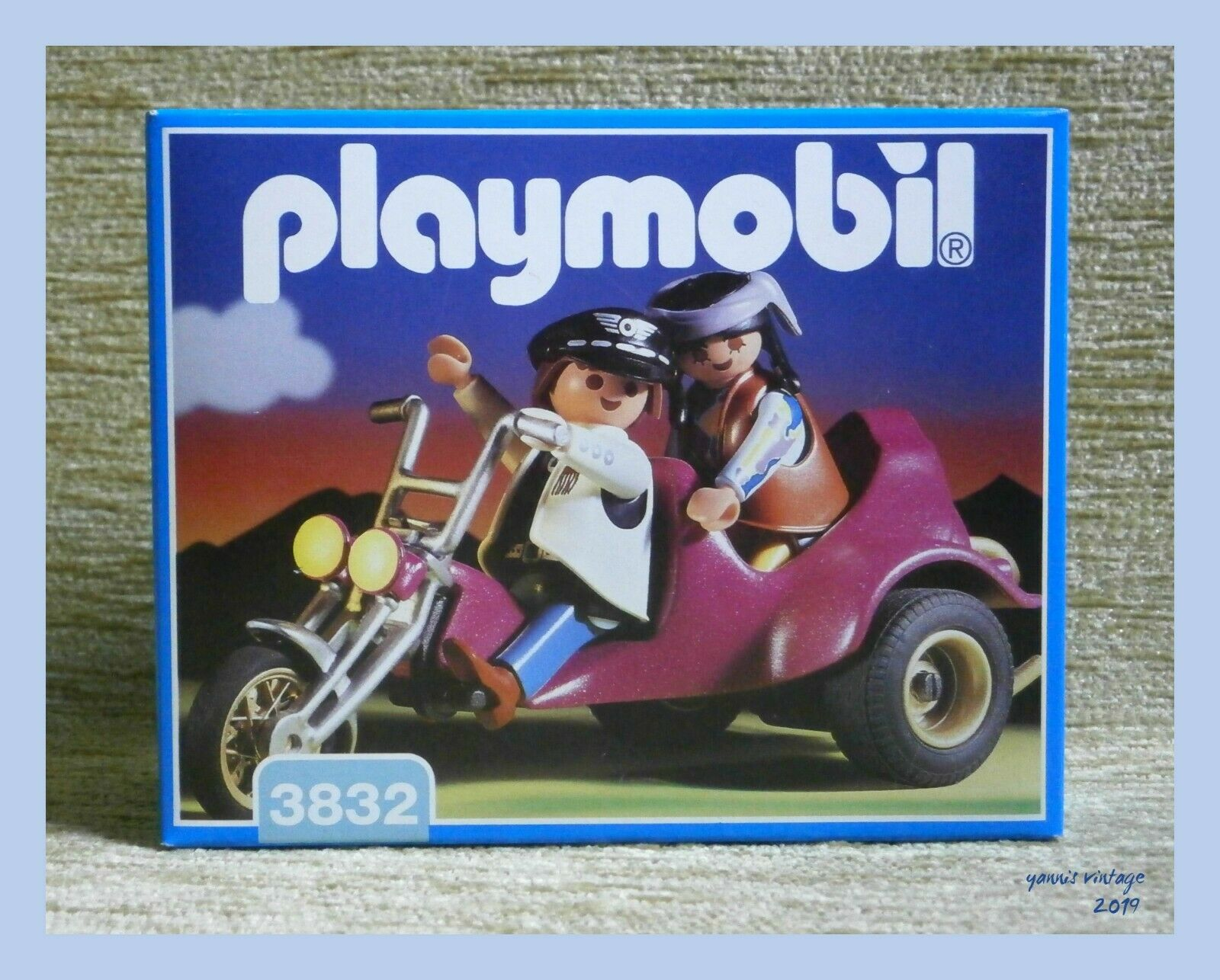 PLAYMOBIL Nº 3832  trois roues Roadster  DGSIM Outdoor Made In Germany 1995