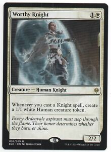 4x Worthy Knight MTG Throne Of Eldraine NM Magic Regular