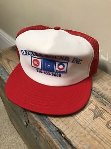 Vintage AC Delco GM GMC hot rod trucker hat cap Made in USA Electra-Sound  INC bf4e38ac0af5
