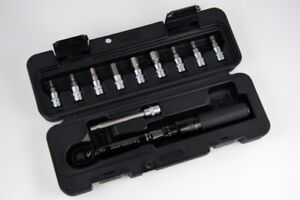 "Black New Zoagear 1//4/"" Bike Bicycle Torque Wrench Tool with 9 Socket bit"