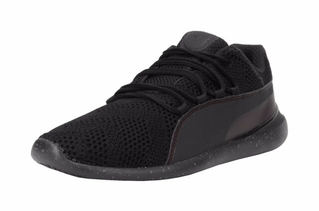 428fdaba6b2f Puma Evo Cat Transform SF Ferrari Black Mesh Light Weight Running Shoes