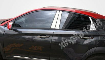 6pcs Stainless Mirror Window Pillar Posts Trim FOR Hyundai ENCINO KONA 2018 New