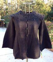 Max Studio Black Mohair Cardigan M $178