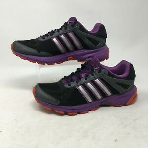 Details about Adidas Duramo 5 TR Trail Running Shoes Sneaker Mesh Lace Up Black Purple Women 7
