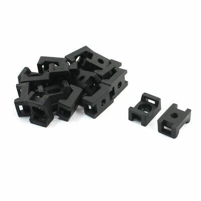 5mm Width 20pcs Uxcell Plastic Cable Tie Mount Saddle STM-1B Black