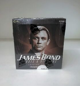 1x James Bond Heroes /& Villains Factory Sealed Trading Card Pack!Factory Sealed