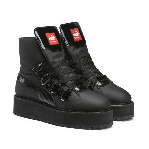 Puma Fenty x Rihanna Womens SB Eyelet sneaker boot platform shoe 363040 01  black